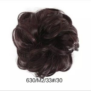 "BRAND NEW 6.6"" 35g THICK DARK BROWN SCRUNCHIE-"